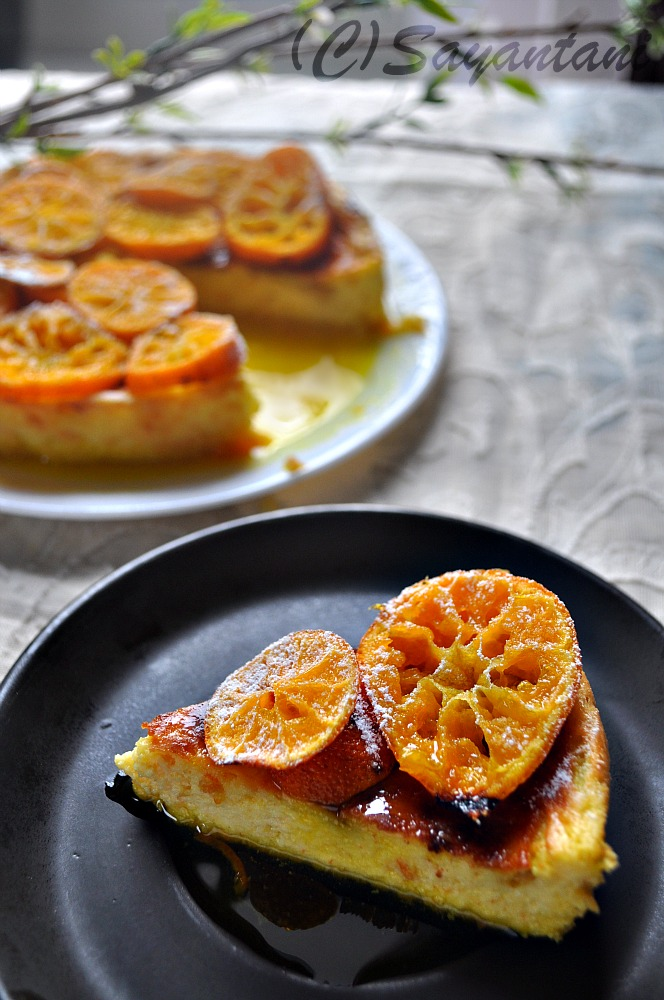 Tangerine Ricotta Pudding with Caramelized Tangerine