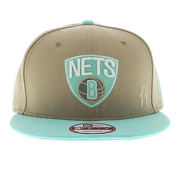 Boné Brooklyn Nets Creme, Verde Agua Snapback - New Era