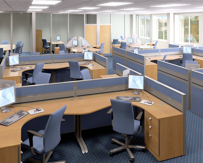 Open Office Space Planning : Surveying property planning for offices space