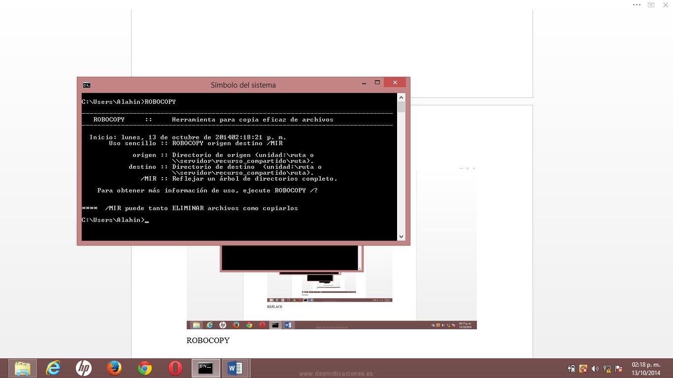 sistemas operativos comandos