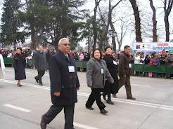 En desfile homenaje a Bdo. OHiggins con miembros de Corporación Histórica y Cultural