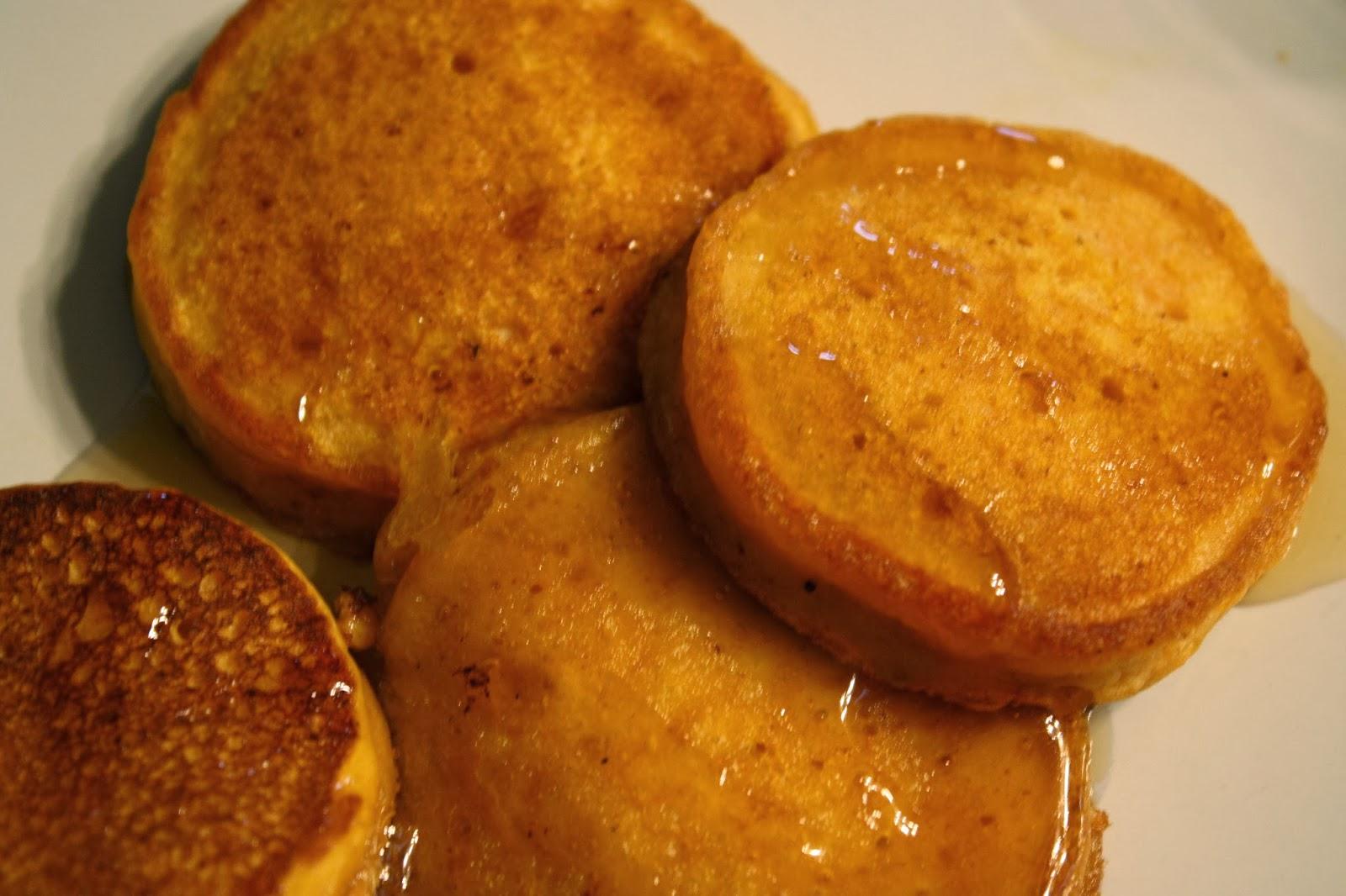 Lactose-Free Girl: Silver Dollar Pumpkin Pancakes
