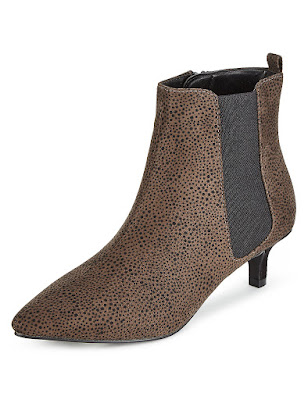 Marks and Spencer Faux Suede Pointed Toe Chelsea Shoe Boot