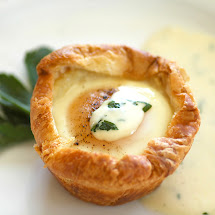 Eggs Baked in Croissant Nests