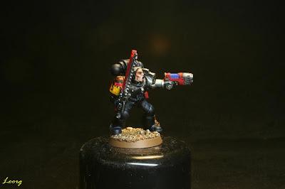 Frontal del sargento Guardianes de la muerte procedente de los Grifos Aullantes
