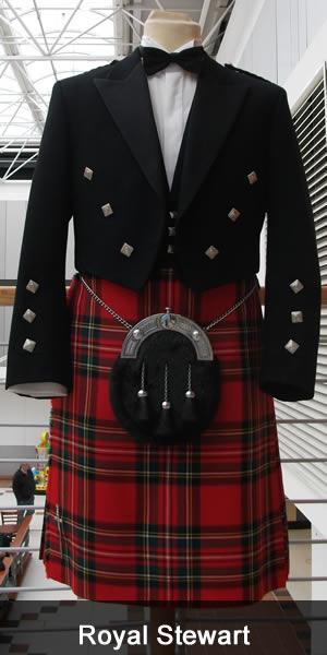 skotske gutta i kilt