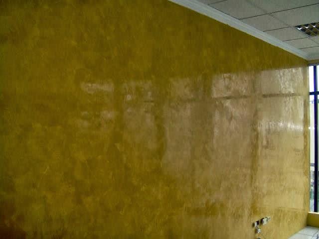 Pintura y texturas decorativas stuco veneciano - Color ocre paredes ...