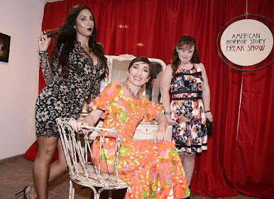Jamie Brewer, Naomi Grossman and Liana Mendoza from American Horror Story