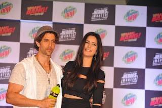 Katrina Kaif and Hrithik Roshan unveil Mountain Dew campaign Photos