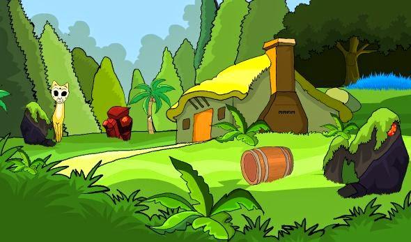 TheEscapeGames Escape through yellow hut Walkthrough