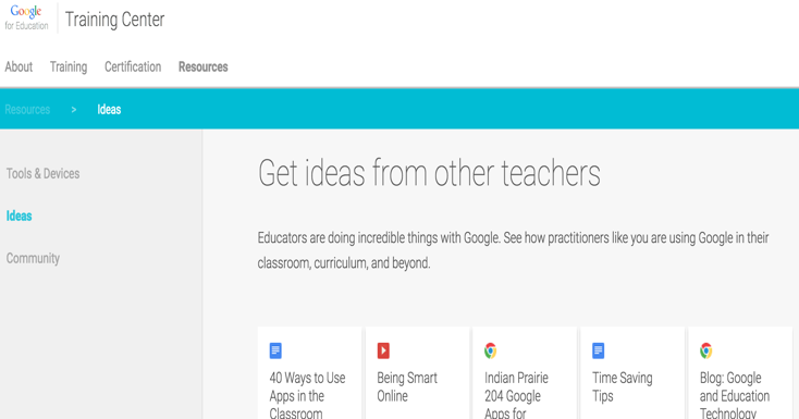 Some Great Educational Resources from Google