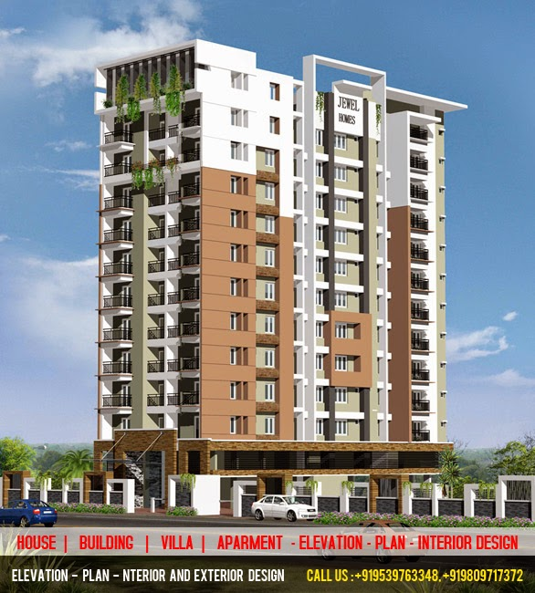3d elevation plan designer 3d power elevation cochin for Best elevations residential buildings