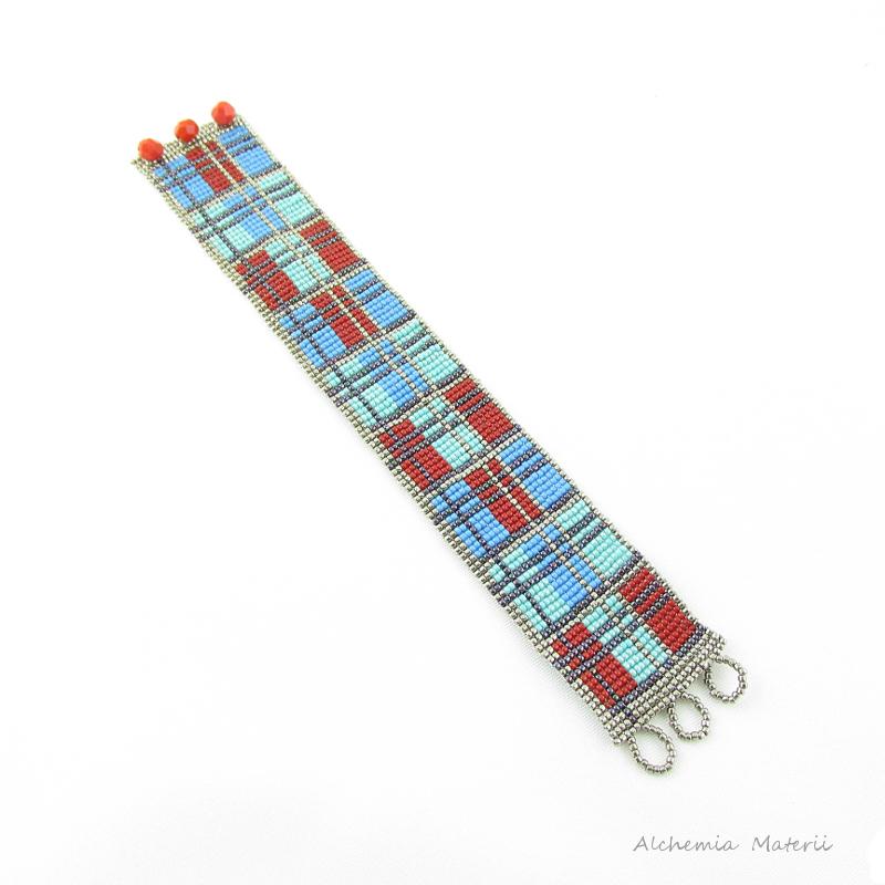 Loom Checkered Bracelet