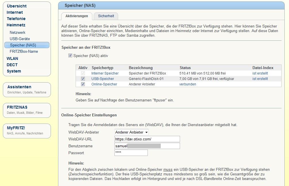 Samuels Computerecke: Wie man Dropbox (und Sky Drive und Google Drive) und Fritz!Box zusammen bringt