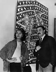 Carlo Cardazzo, con Sophia Loren: Capogrossi sullo sfondo