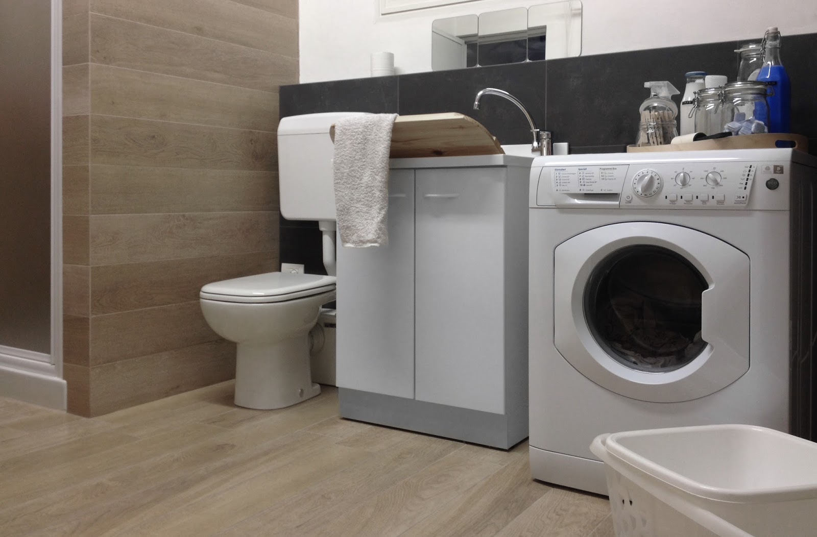 Details of us laundry room project la nostra lavanderia - Mobile lavanderia ikea ...