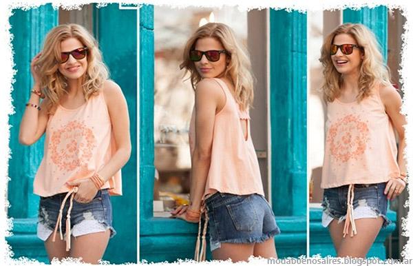 Remeras y shorts de moda verano 2015 Doll Fins.