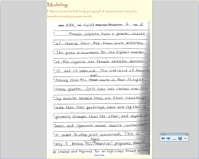 middle school teacher to literacy coach minilesson on revision in during the modeling portion of the lesson i scanned in a copy of my discovery draft for my students and asked them to help me revise my essay for