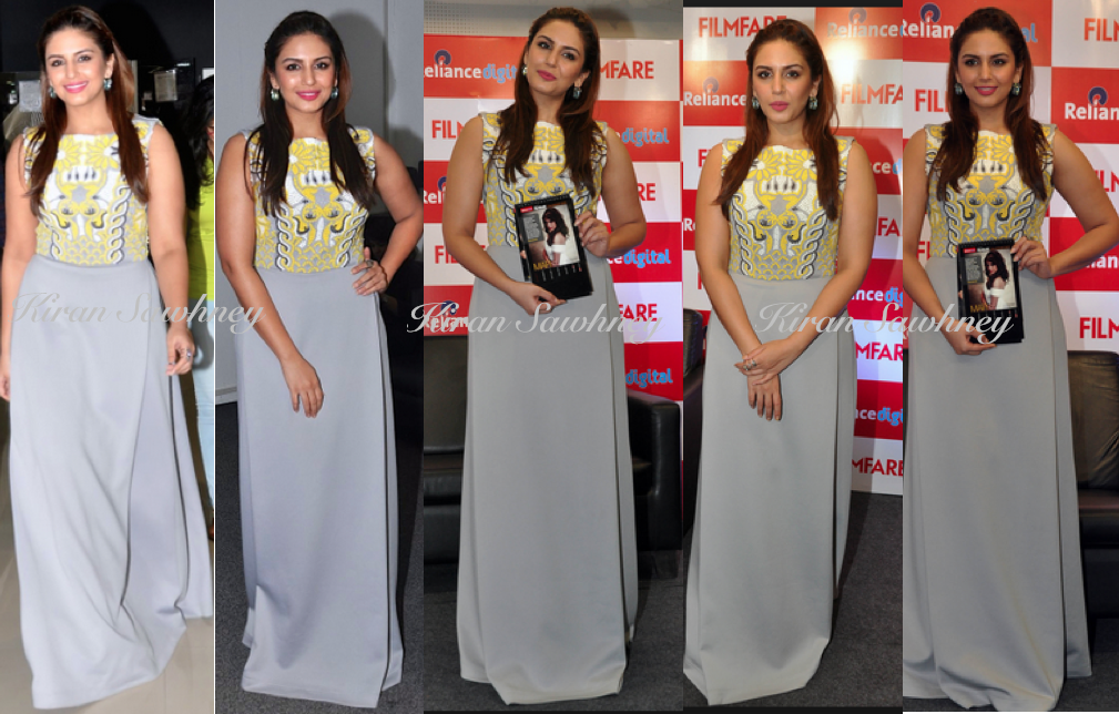 Huma Qureshi unveiled Filmfare's 2015 Calendar in Pankaj and Nidhi