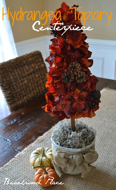 Fall Topiary Center Piece