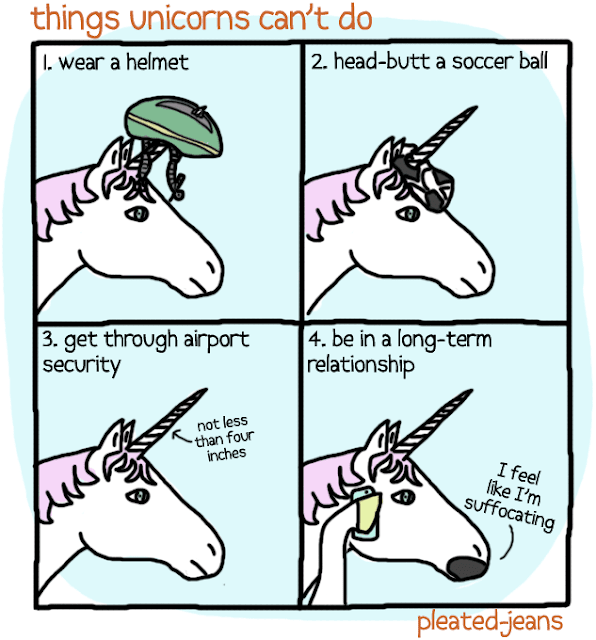 comic, funny, funny picture, unicorn, things unicorns can't do