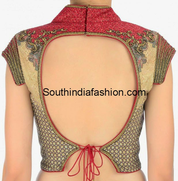 Stand Collar Neck Designs For Blouse : Stand collar blouse designs long with pants