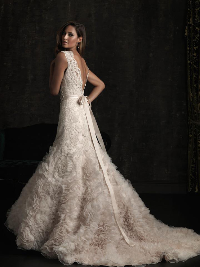 White smile allure bridals fall 2012 collection my for Blush pink lace wedding dress