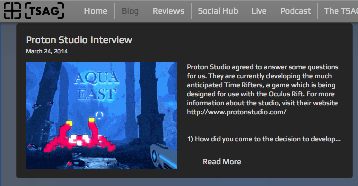 http://www.tsag.co.uk/#!Proton-Studio-Interview/cvpf/8189D405-DE1A-4366-8FC9-8AF79B1D93F3