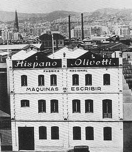 Letterology hispano olivetti manufacturing plant outside italy where they produced typewriters and other office machines what followed were some of the most celebrated promotional fandeluxe Gallery
