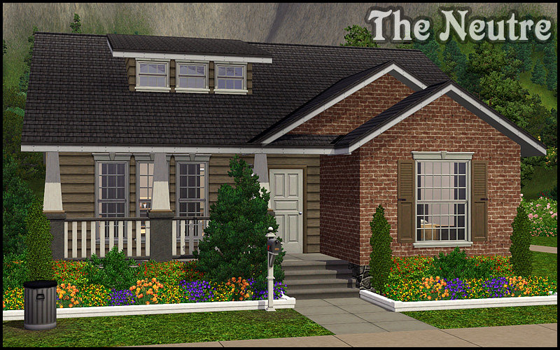 My sims 3 blog family starter the neutre and more by for Small starter homes