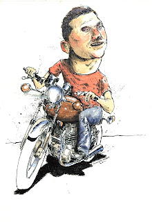 happy birthday kawasaki kz400 ammon perry illustration