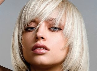 Blonde Sliced Asymmetric Bob