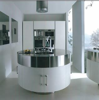 Cozinha com Ilha Redonda Chateau D'Ax