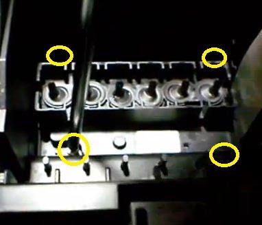 tornillos en cabezal de impresión epson