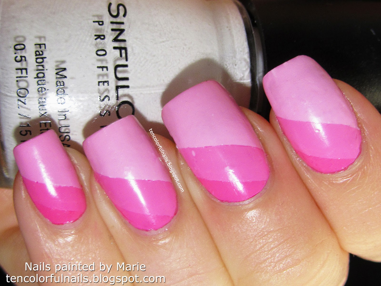 Ten Colorful Nails Water Ombre Nail Art Tutorial