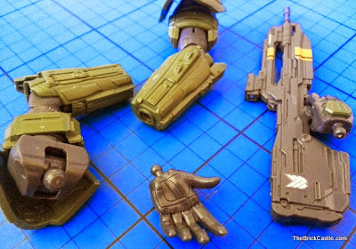Bandai Sprukits level 3 Halo Master Chief hands accesories guns