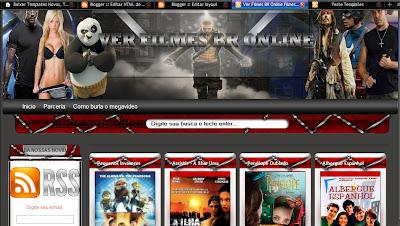 Template de Filmes Online Blogger