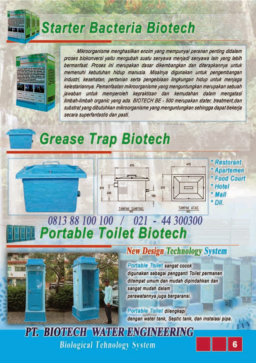bubuk bakteri pengurai tinja, toilet portable fibreglass, grease trap, biofive, biogift, biofil