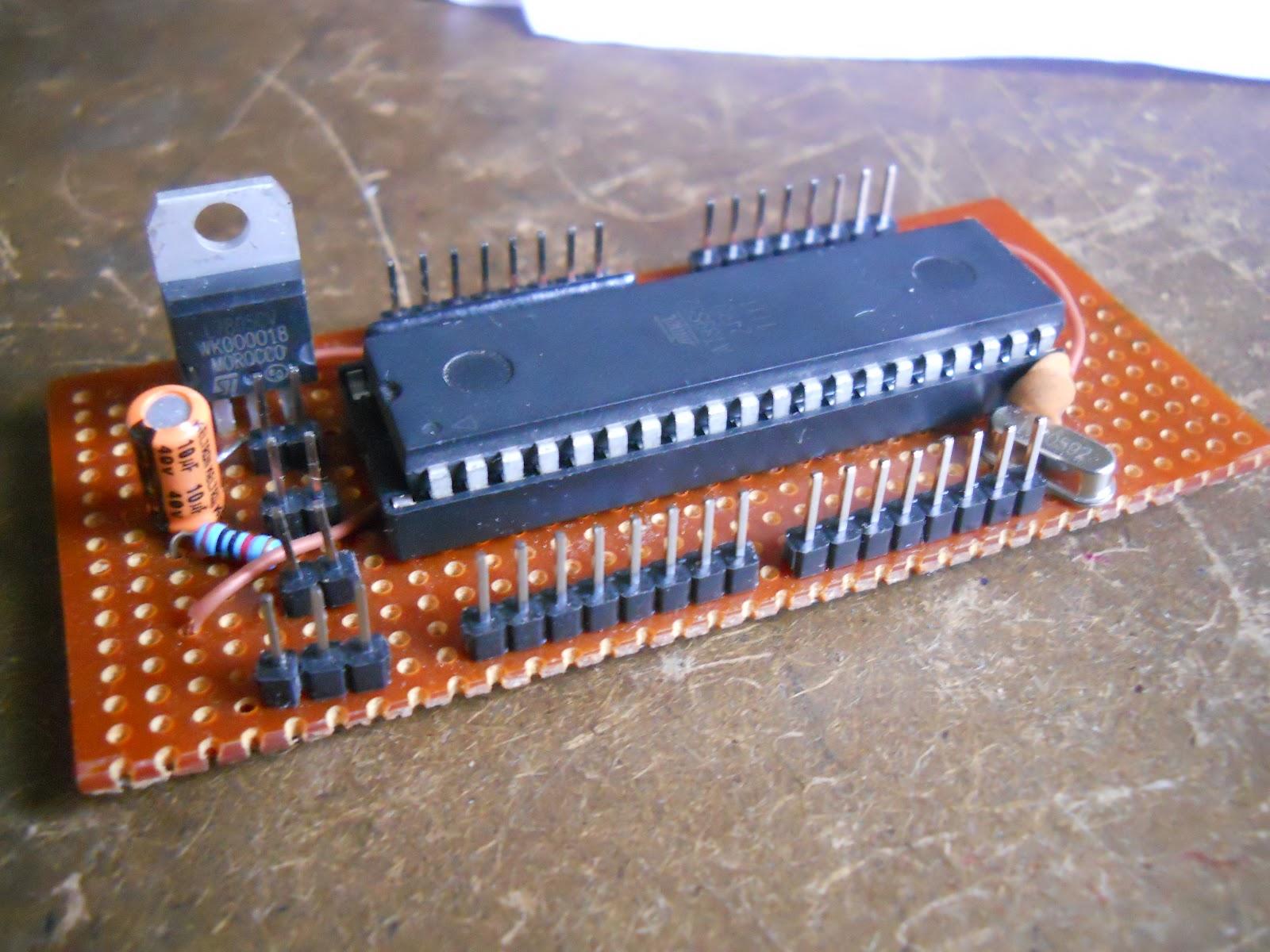 robo zone home made 8051training board