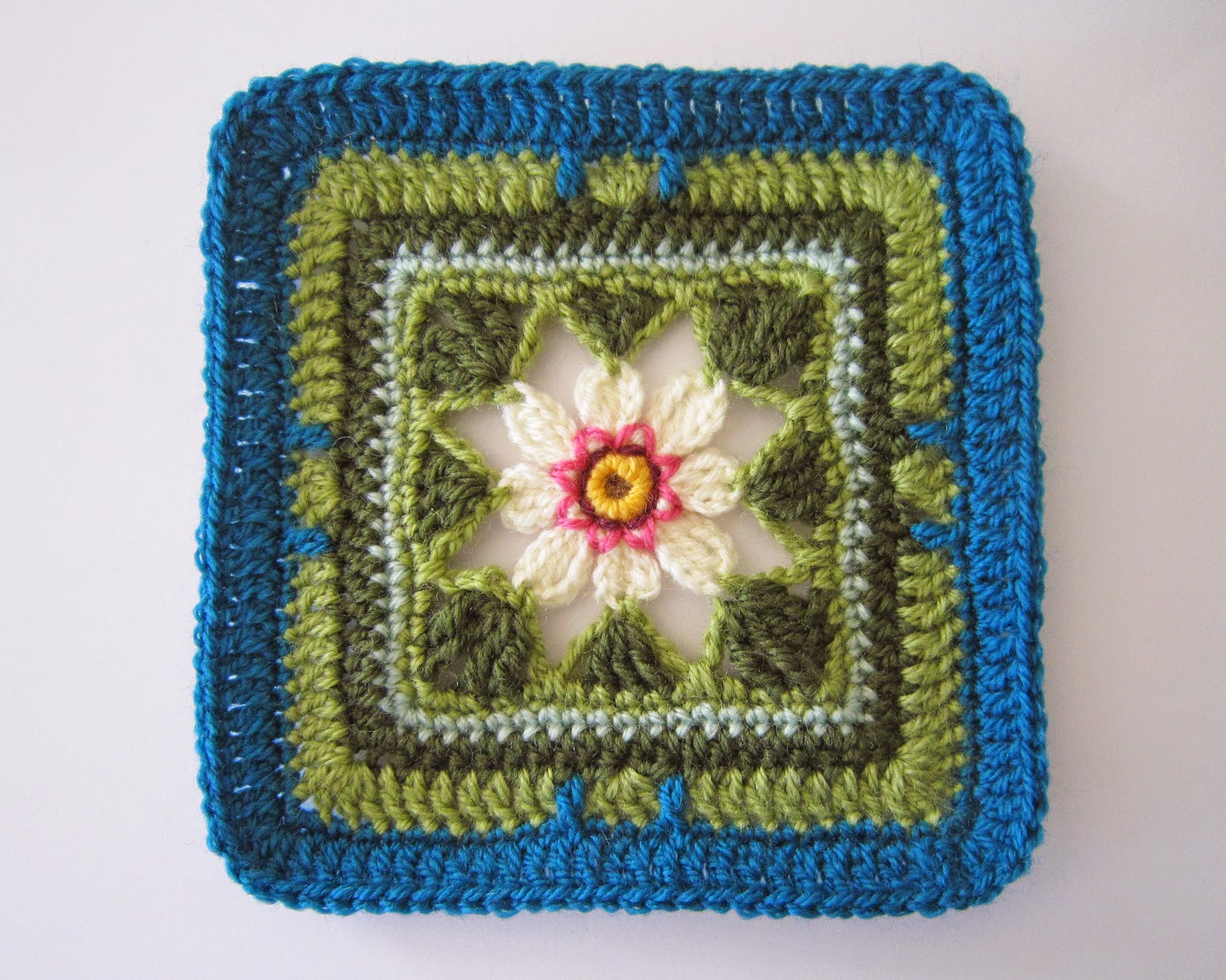 Knit Crochet Design Lily Pond Cal Block Two