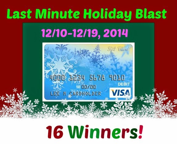 Enter the Last Minute Holiday Blast Giveaway. Ends 12/19