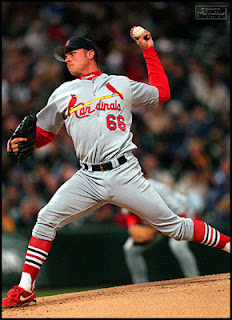 Rick Ankiel, St. Louis Cardinals, pitcher, throwing, yips