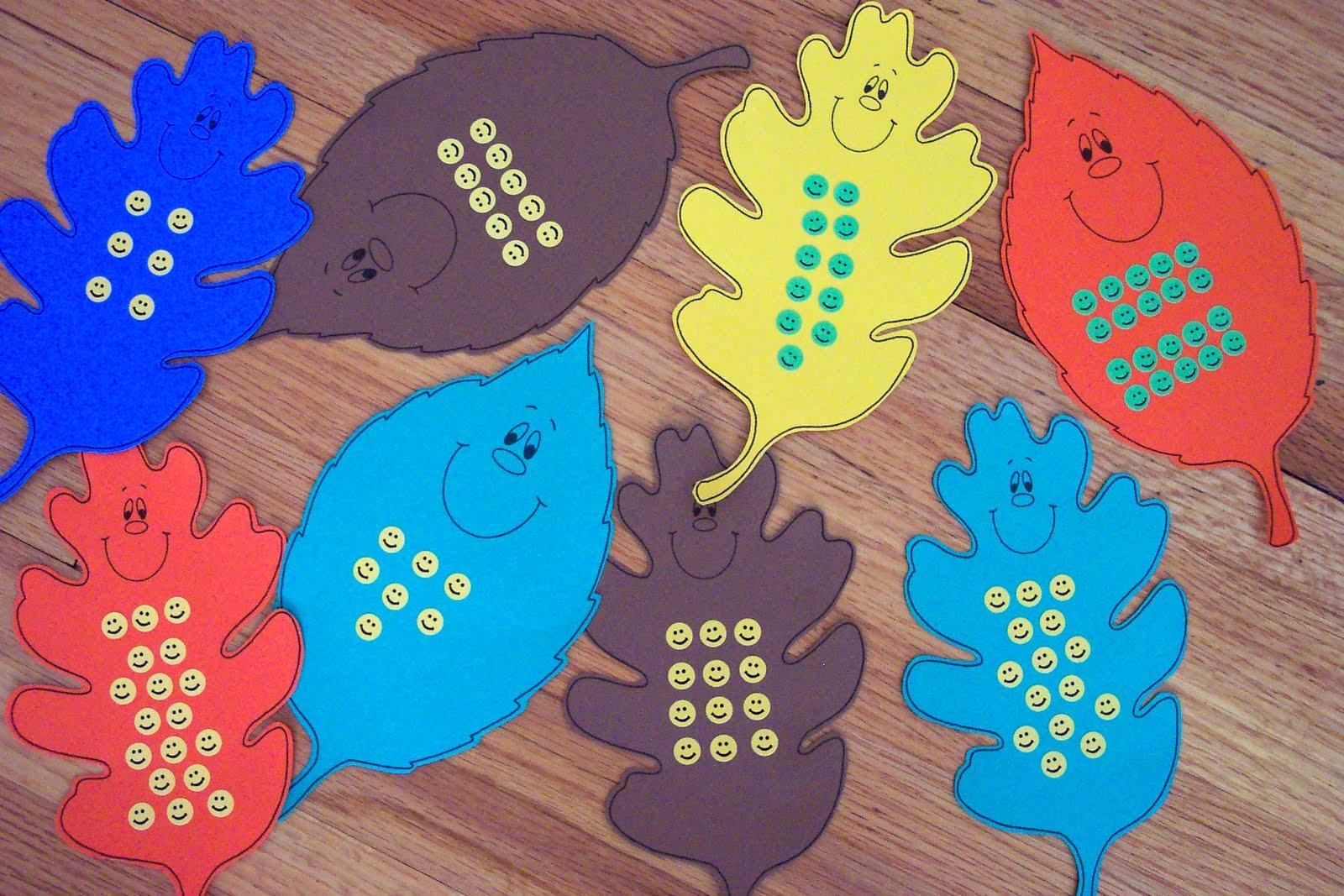 Kinderdi: Fall Leaf Math Center