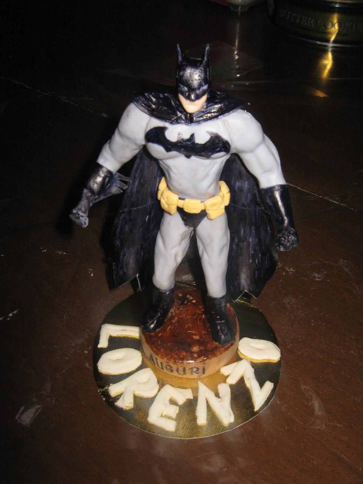 il paradiso delle torte: cacke topper -Batman in cioccolato plastico e ...