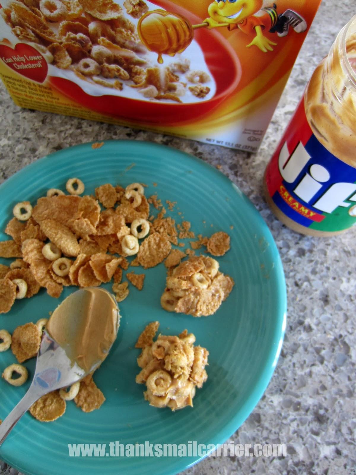 peanut butter cereal balls
