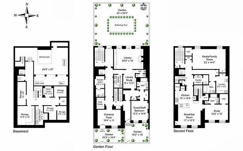 Celebrity homes september 2013 for 165 eaton place floor plan