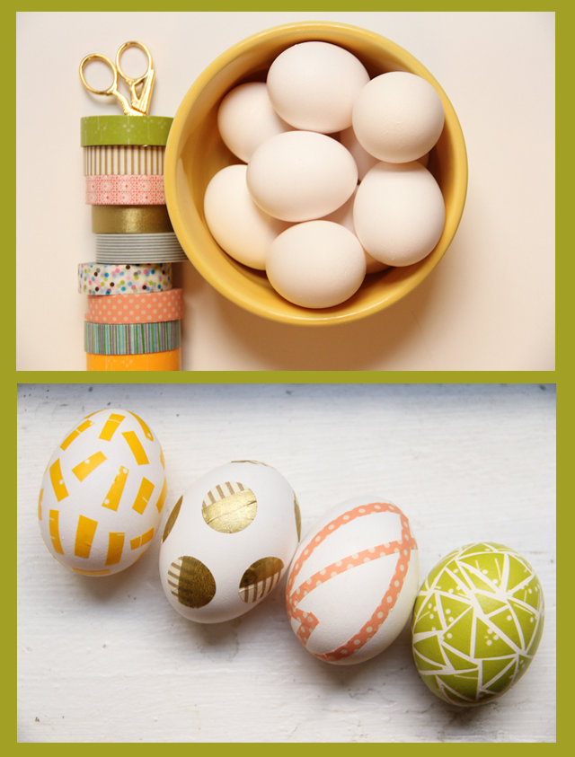 DIY Washi Tape Easter Eggs Craft Project for Kids Easter Baskets