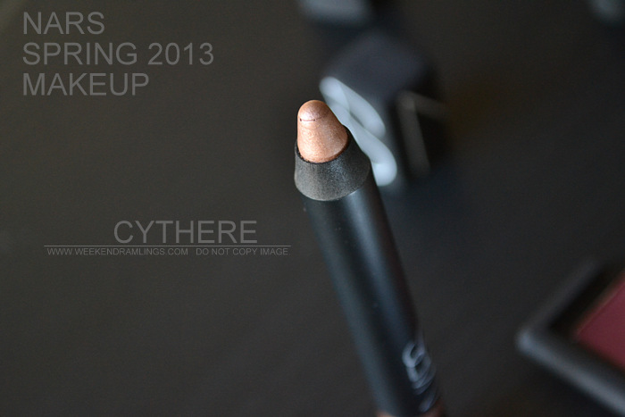 NARS Spring 2013 Makeup Collection Indian Beauty Blog Darker Skin Swatches Photos Cythere velvet lip gloss pencil rose gold
