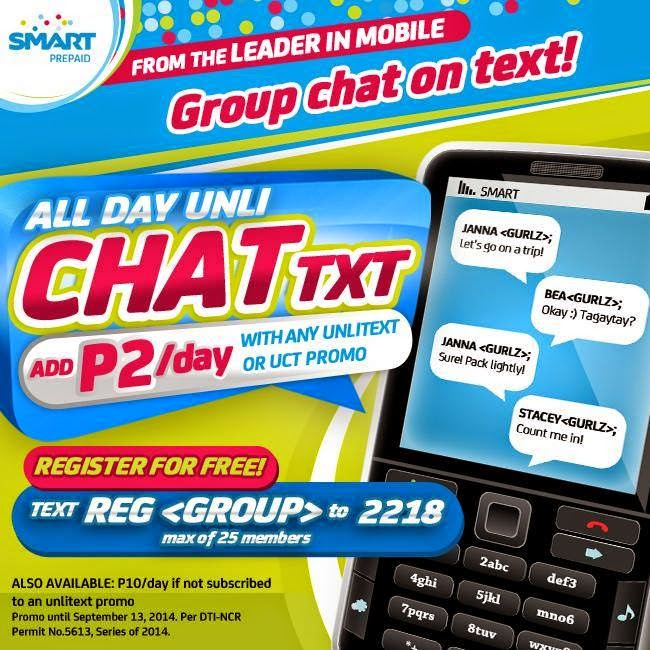 Smart Prepaid CHATtxt, Enjoy Group Chat on Text for P2 Per Day