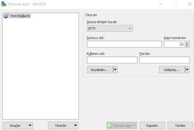 SSH ve FTP Programı: WinSCP